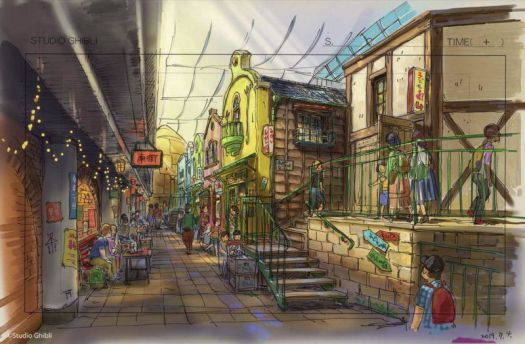 concept art of the spirited away dining area