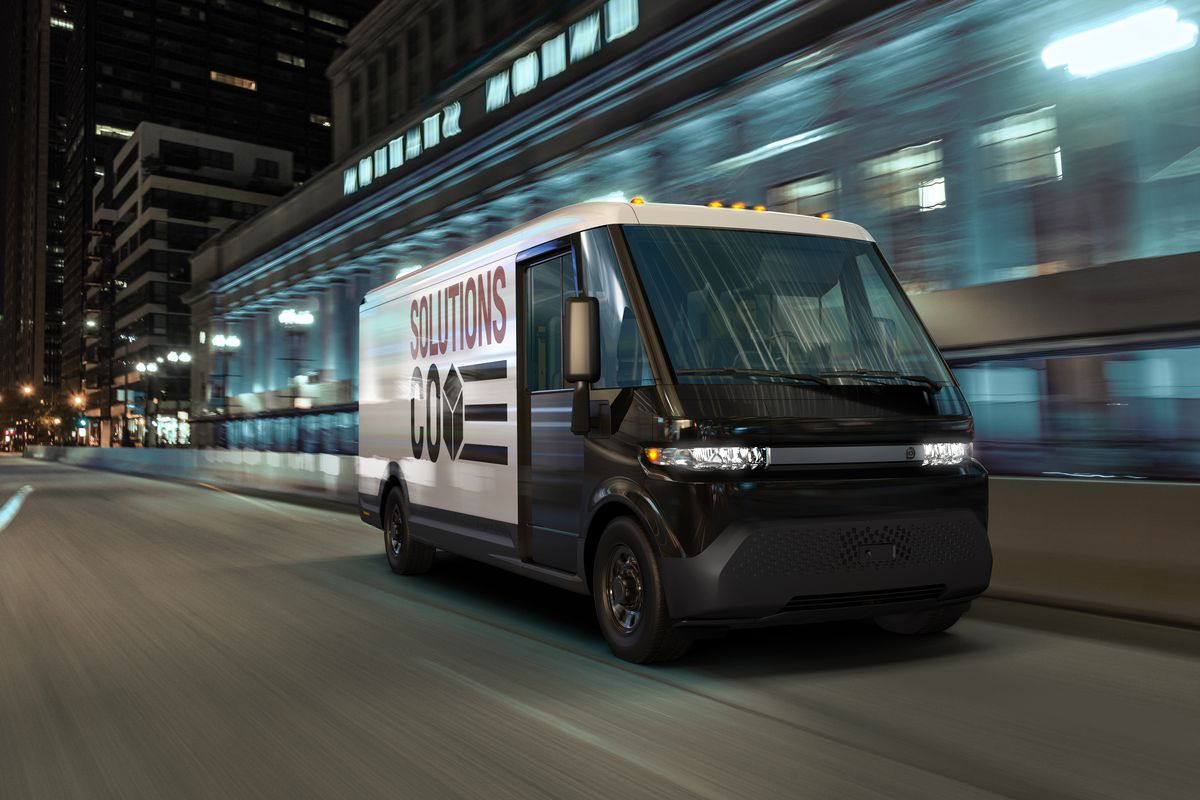 GM unveils electric delivery van with 250 miles of range as part of new  spinoff business - The Verge