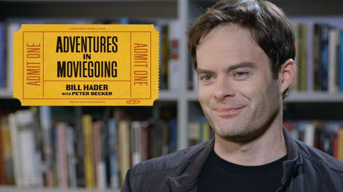"A promotional image of Bill Hader in The Criterion Channel's ""Adventures in Moviegoing"""