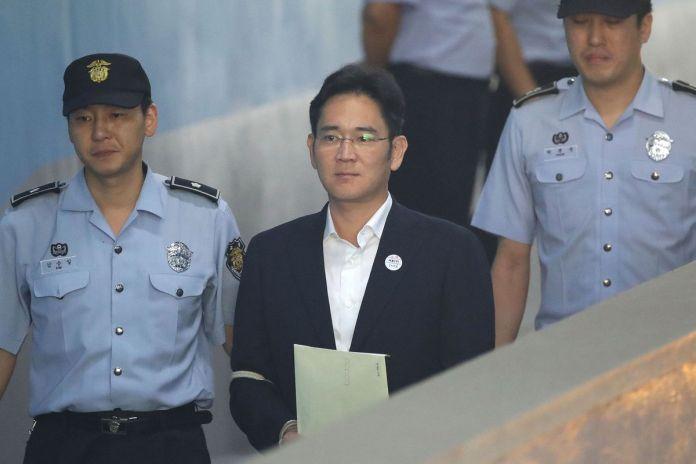 Samsung Group Heir Lee Delivered Ruling Over Bribery Scandal Involving Former President Park