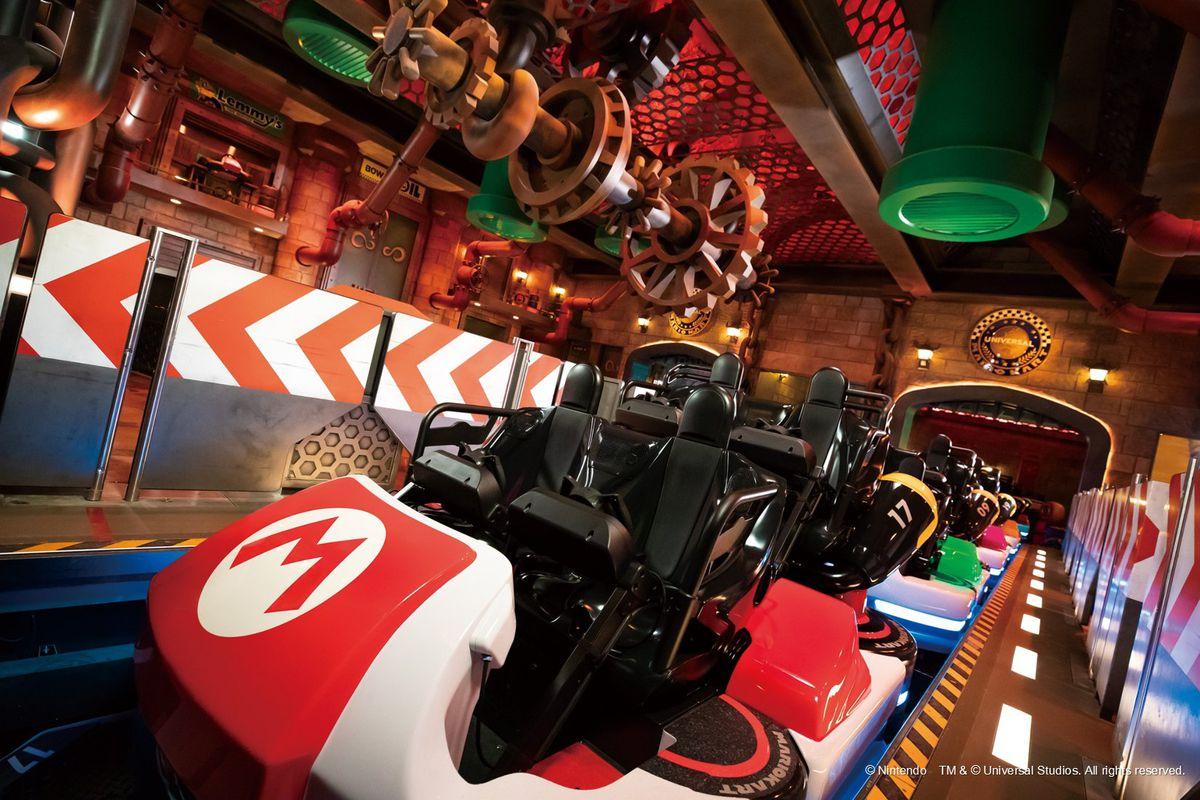 Inside the Koopa's Castle Mario Kart ride