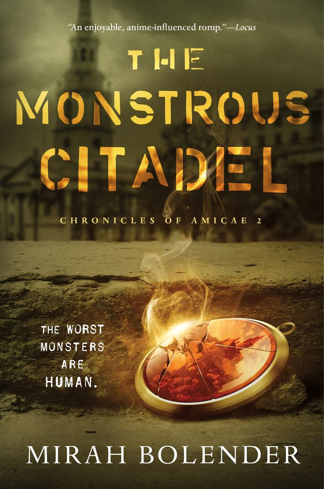 the monstrous citadel book cover featuring a broken gem smoking from the crack