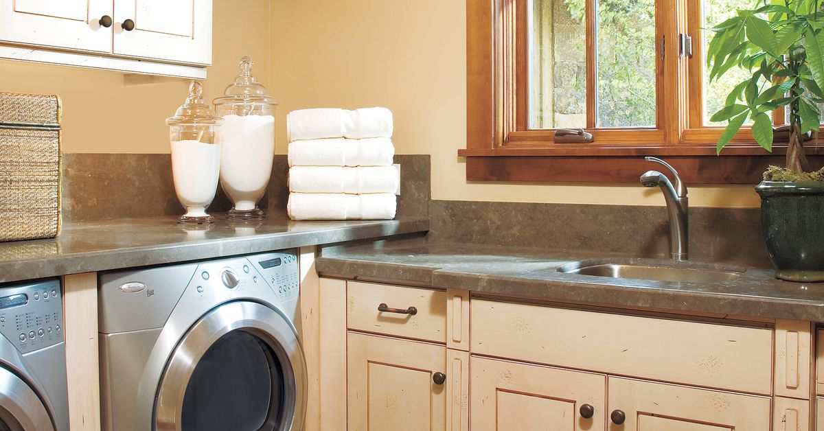ideas for a fully loaded laundry room