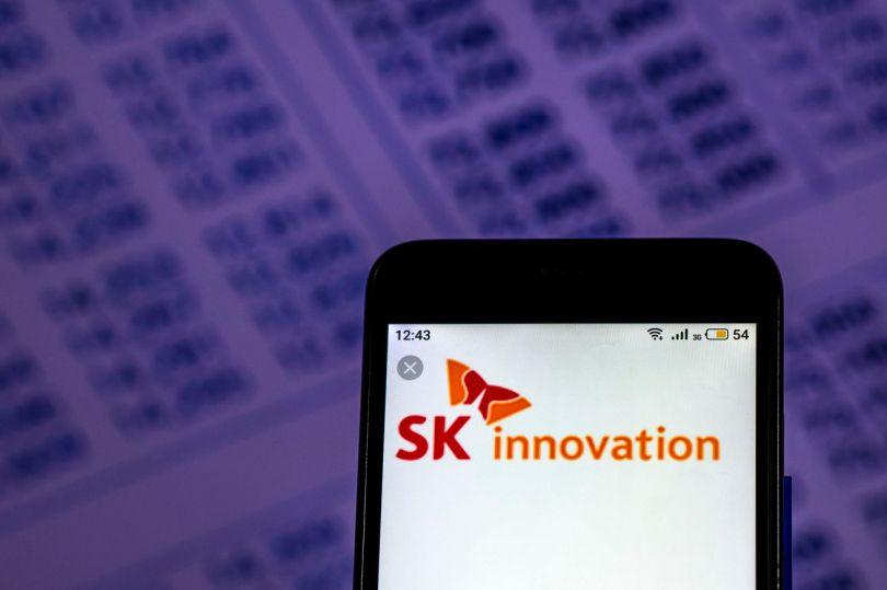 SK Innovation Co logo seen