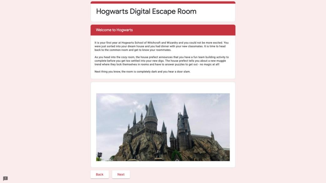 Harry Potter escape room
