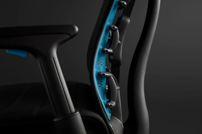 The lumbar support on the Embody Gaming Chair.