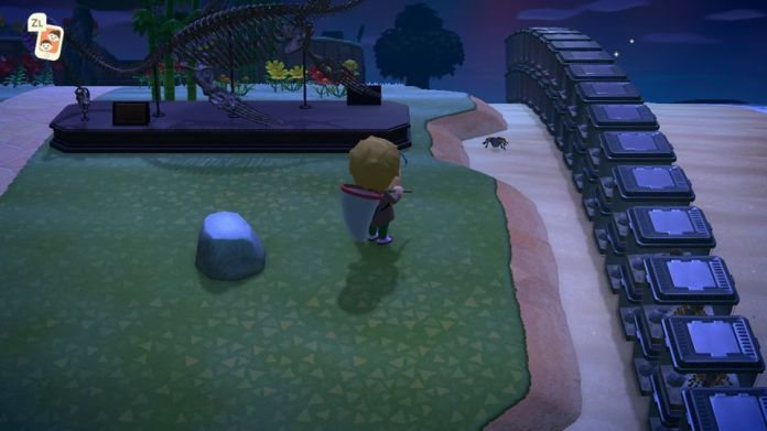A rock in Animal Crossing: New Horizons