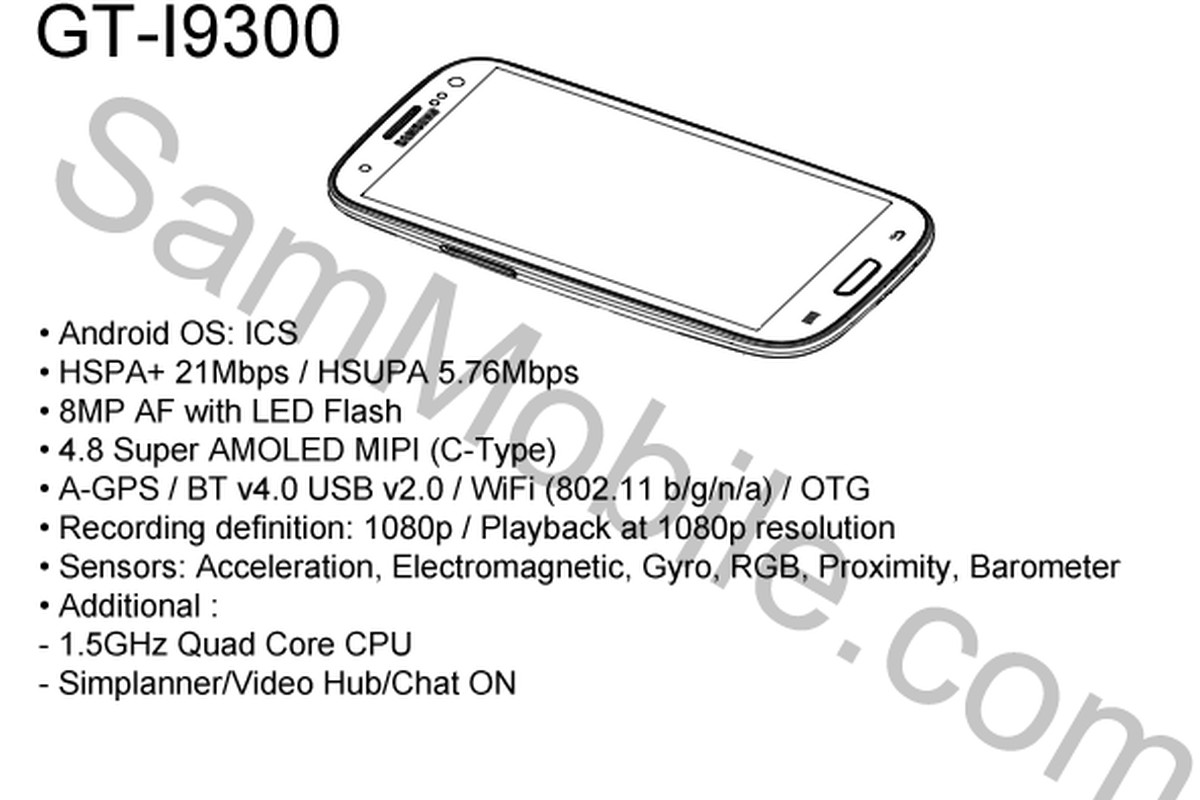 Samsung Galaxy S3 Pictured In Draft Service Manual