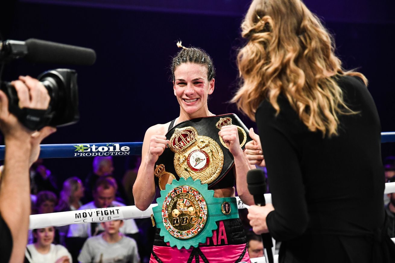 Boxing - Gaelle Amand v Jelena Mrdjenovich