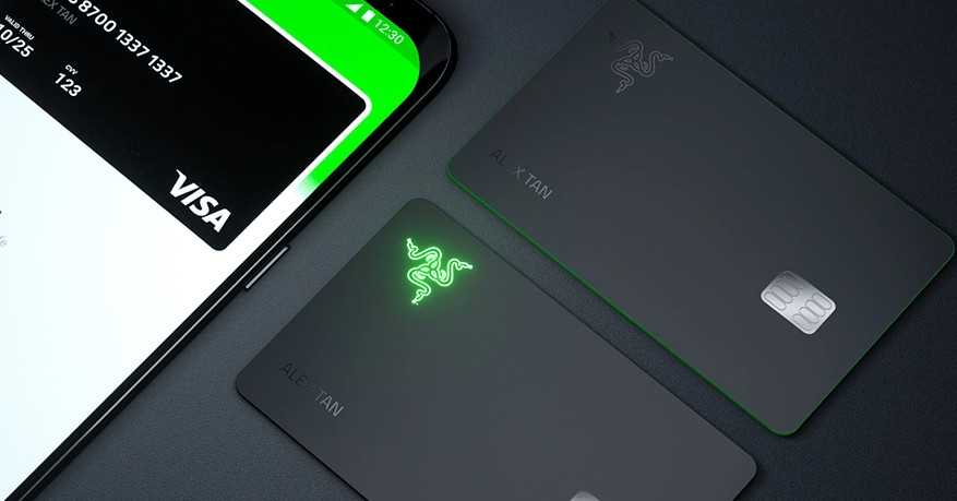 Razer made a prepaid card that lights up