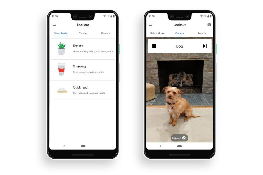 <em>Google Lookout uses AI to identify objects and read text through the camera on a user's phone. </em>