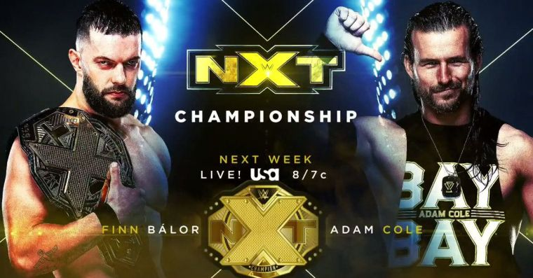 NXT title match booked for next Wednesday