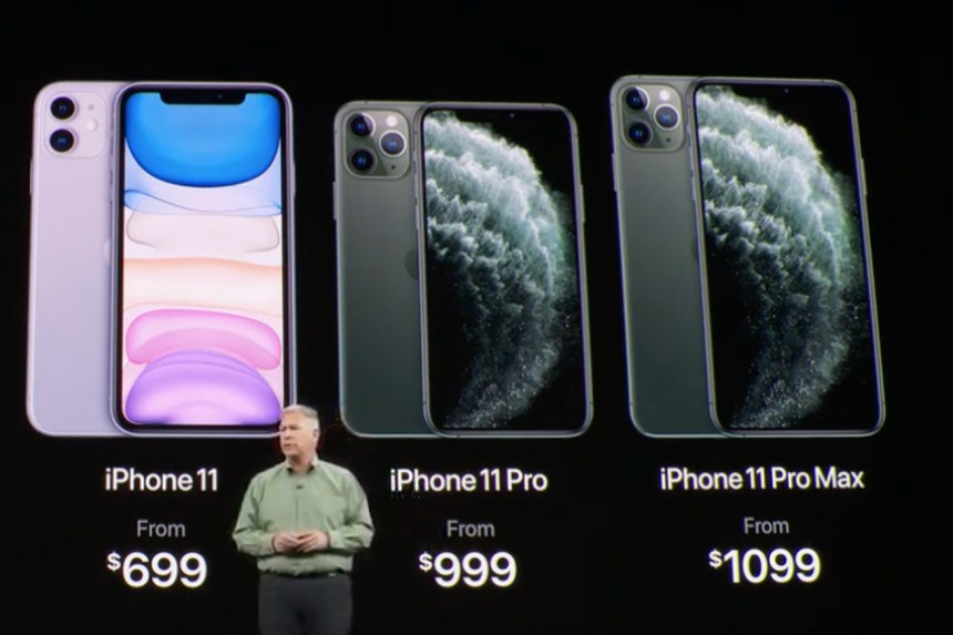 Three iPhone models 2019
