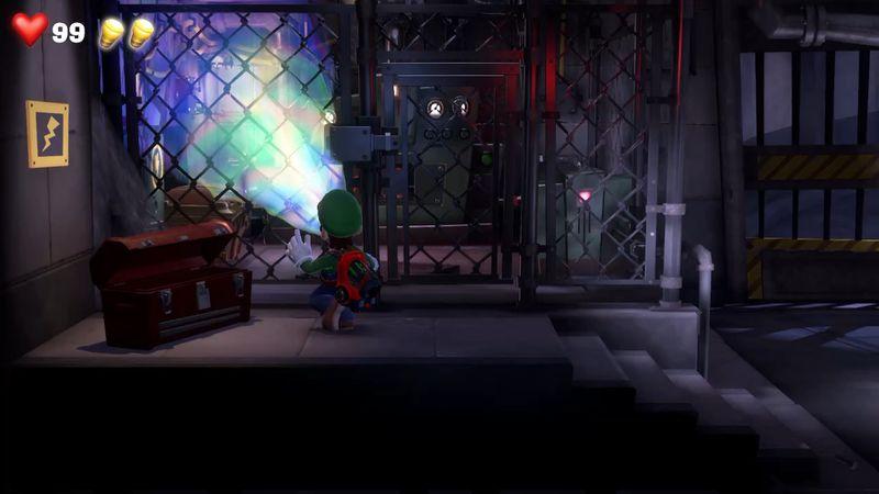 Luigi s Mansion 3 B1 Garage  red gem  5 - Luigi's Mansion 3 - Guida: come trovare tutte le gemme dei piani B2 e B1