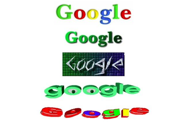 """Google """"stickers"""" from a 1999 archive of its site."""