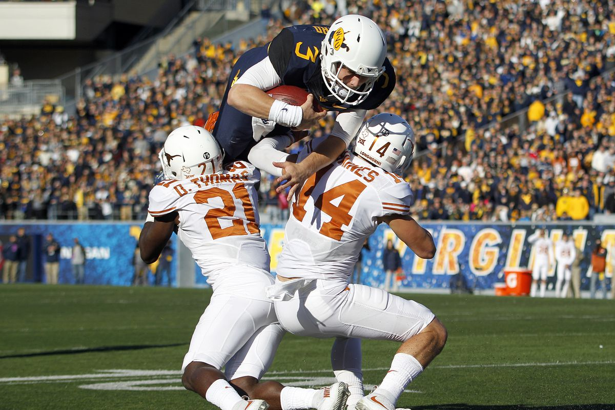 Image result for West Virginia Mountaineers vs. Texas Longhorns