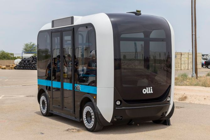 The Olli 3D-printed bus