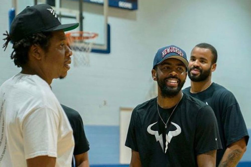 At Kyrie Irving's signing ceremony, 'The Two Seans' and some New Jersey  nostalgia - NetsDaily