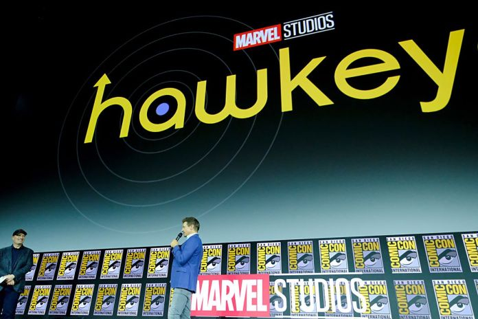 jeremy renner announcing hawkeye Disney plus series at SDCC 2019