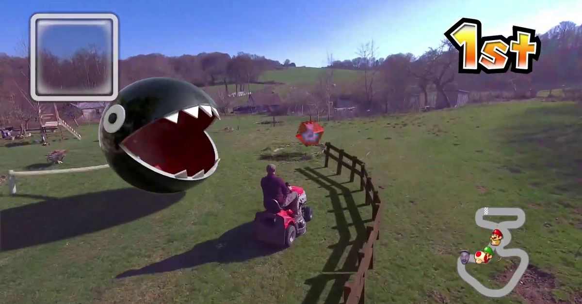 Real-life Mario Kart looks amazing from the perspective of a self-flying Skydio drone
