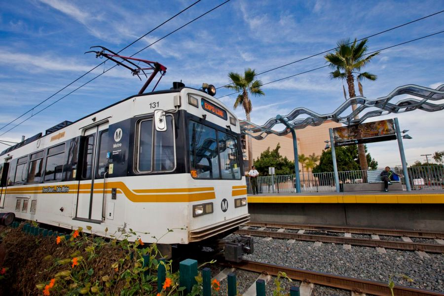Perfecting public transportation  10 U S  cities with progressive     Expo light rail line in Los Angeles Photo by Ted Soqui Corbis via Getty  Images