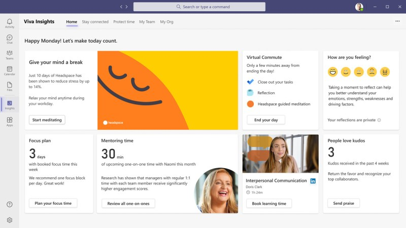 Viva Insights app in Microsoft Teams