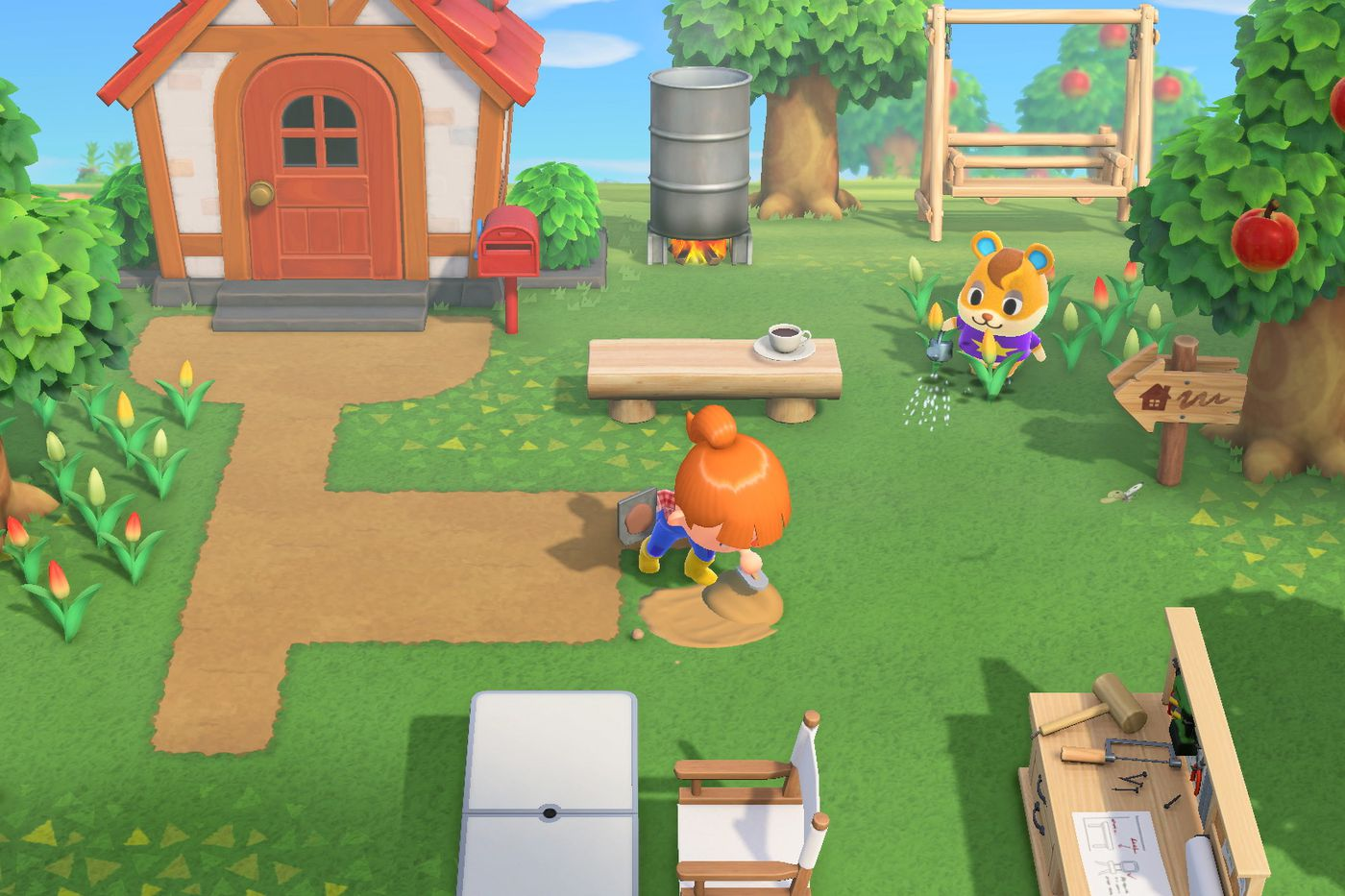For Animal Crossing Fans No Detail Is Too Small Especially Pathing Polygon