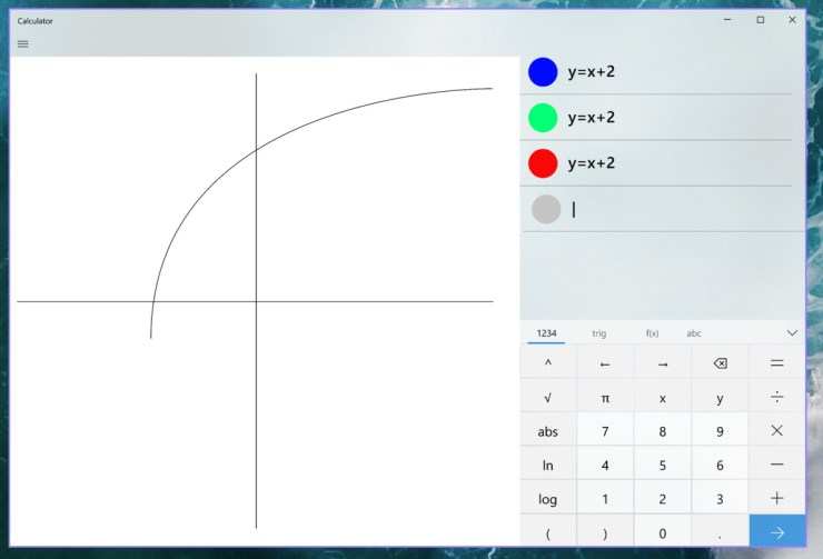 windows 10 graph math equation