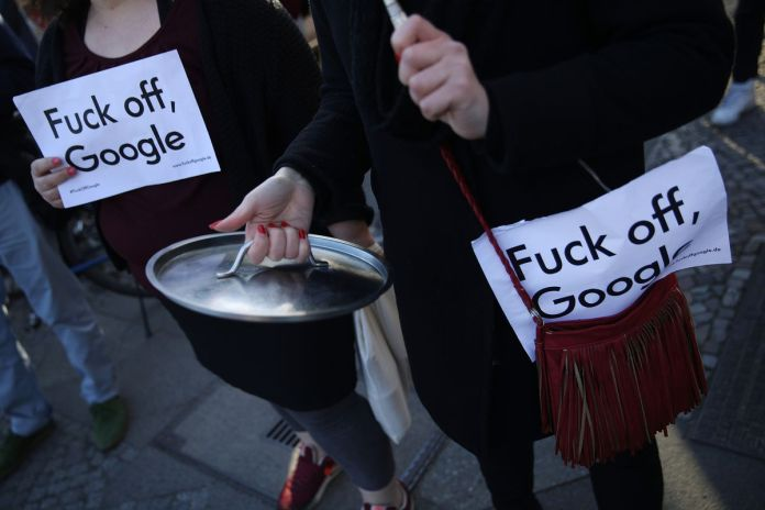 Locals Protest Planned Google Campus