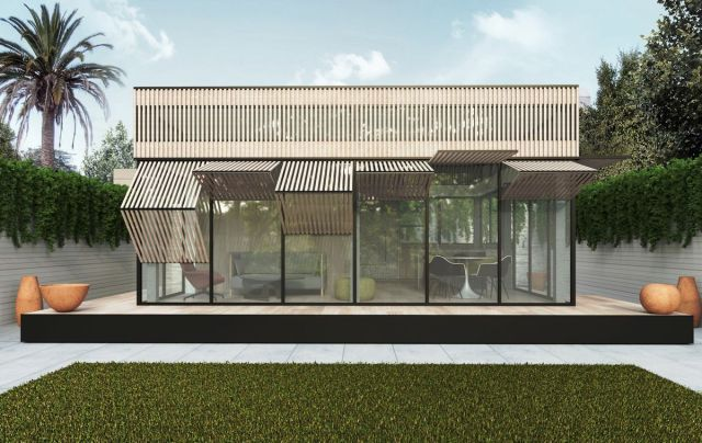 Rendering of house facade