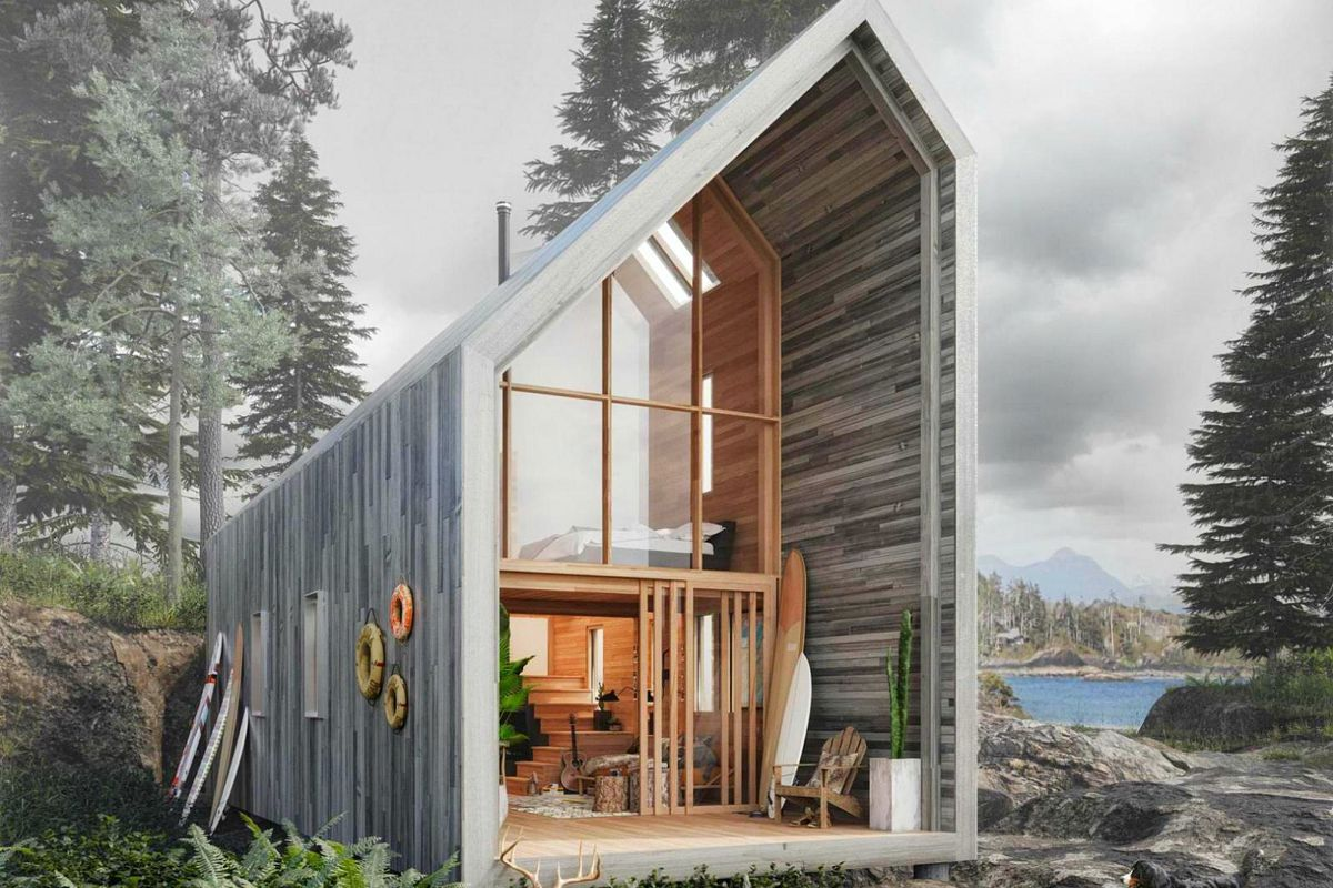 Prefab Home Offers Nature Getaway, Flatpack-style