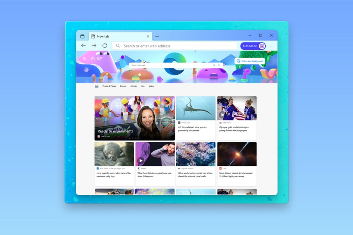 Microsoft Edge's new Kids Mode is ideal for shared family PCs
