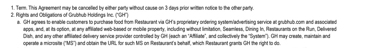 grubhub restaurant microsite contract - Grubhub says its contract allowed it to create fake restaurant websites