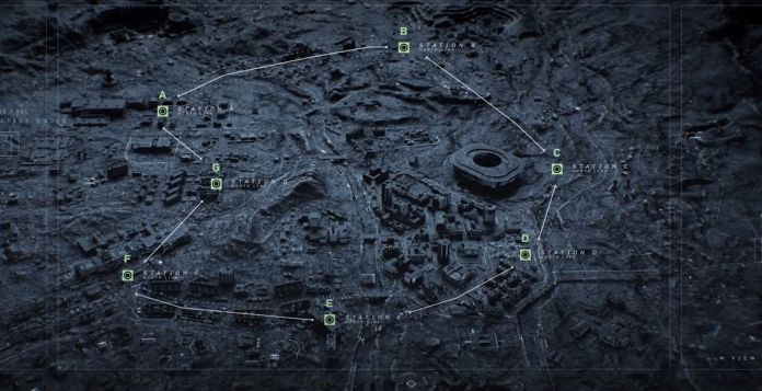 The subway map for Verdansk in Call of Duty: Warzone