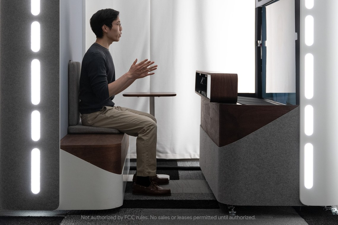Google previews Project Starline, a next-gen 3D video chat booth