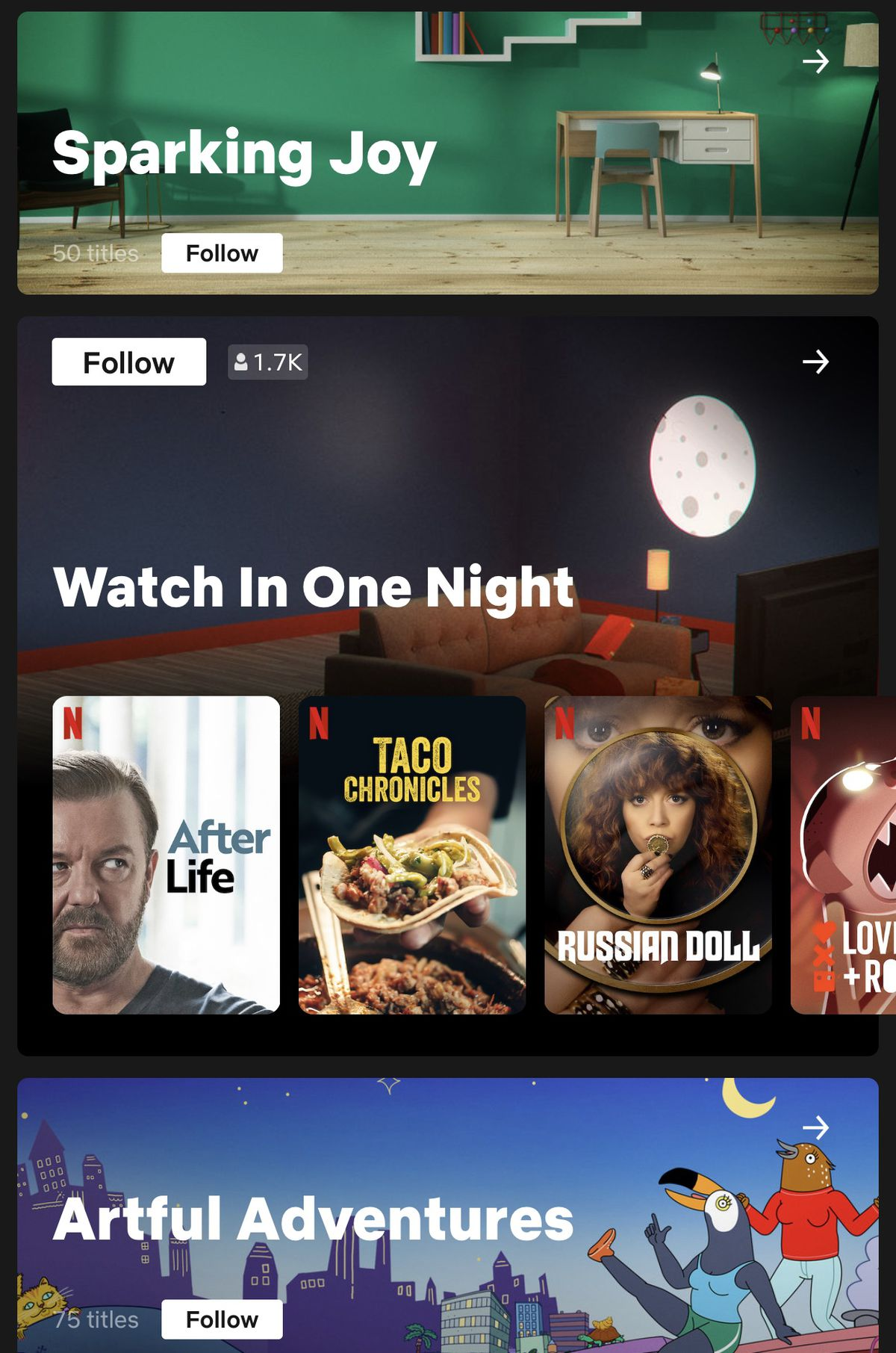 IMG 3803 - Netflix tests Collections that are curated by humans instead of algorithms
