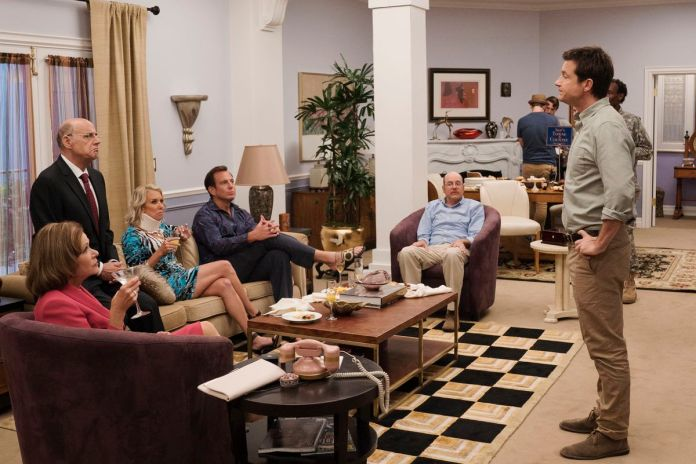 a family sit around to address each other in arrested development