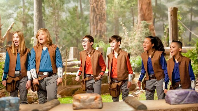 three teams of two compete in jedi temple challenge