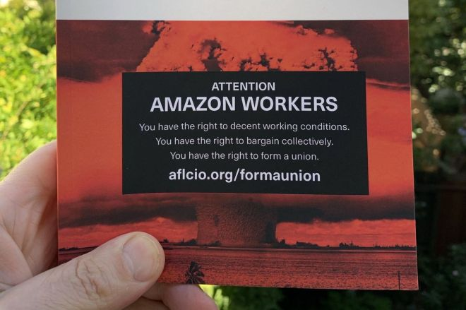 mike_monteiro_book_cover_attention_amazon_workers.0 Author tricks Amazon into distributing union materials to its own employees via book cover | The Verge