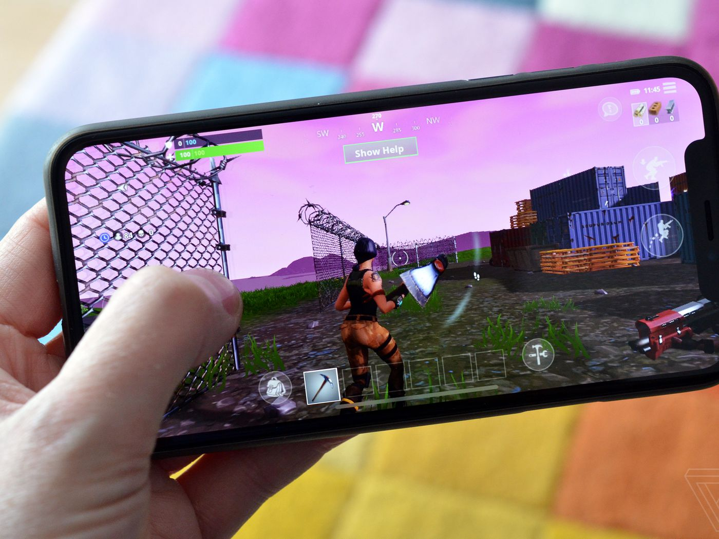 fortnite on an iphone x is an exciting look at the future of mobile gaming the verge