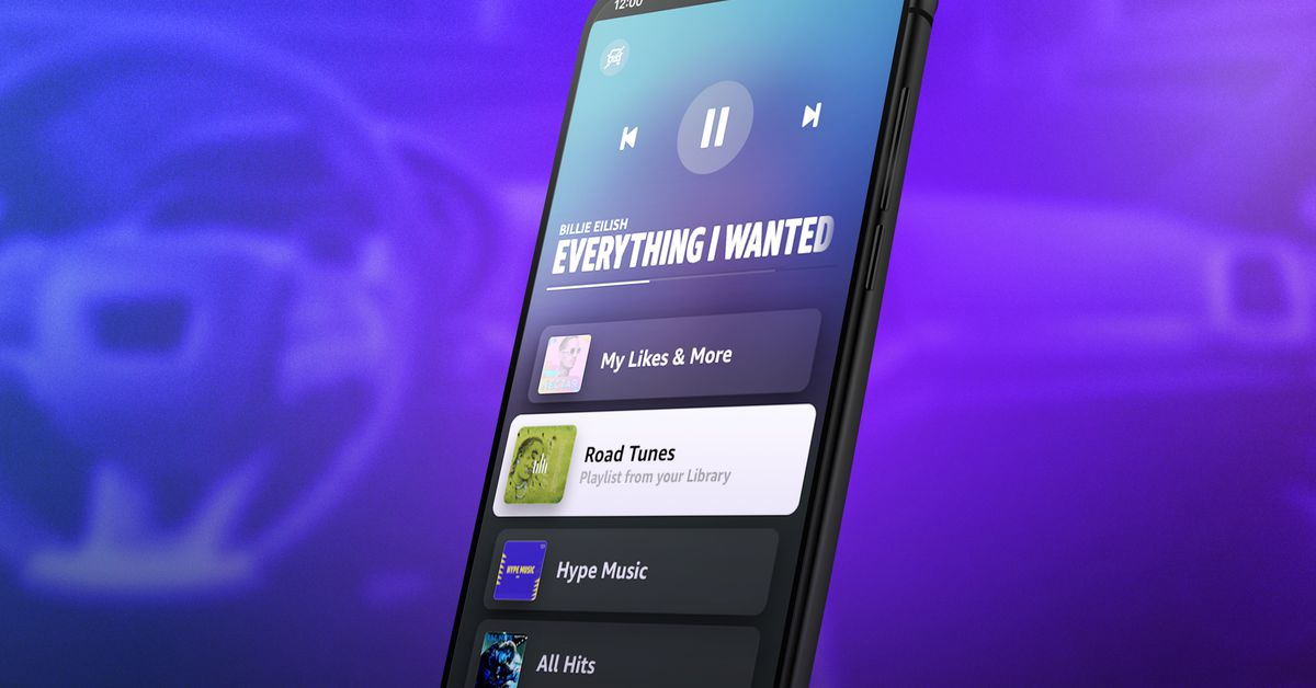 Amazon Music now has a Car Mode for easier use while driving