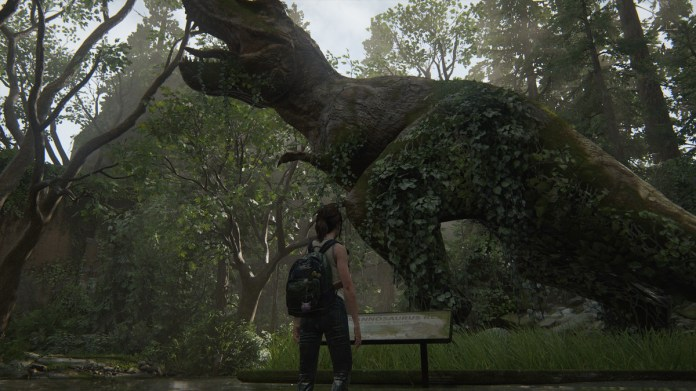 T-Rex Journal Entry collectible location The Last of Us Part 2 Seattle Day 1 (Ellie)