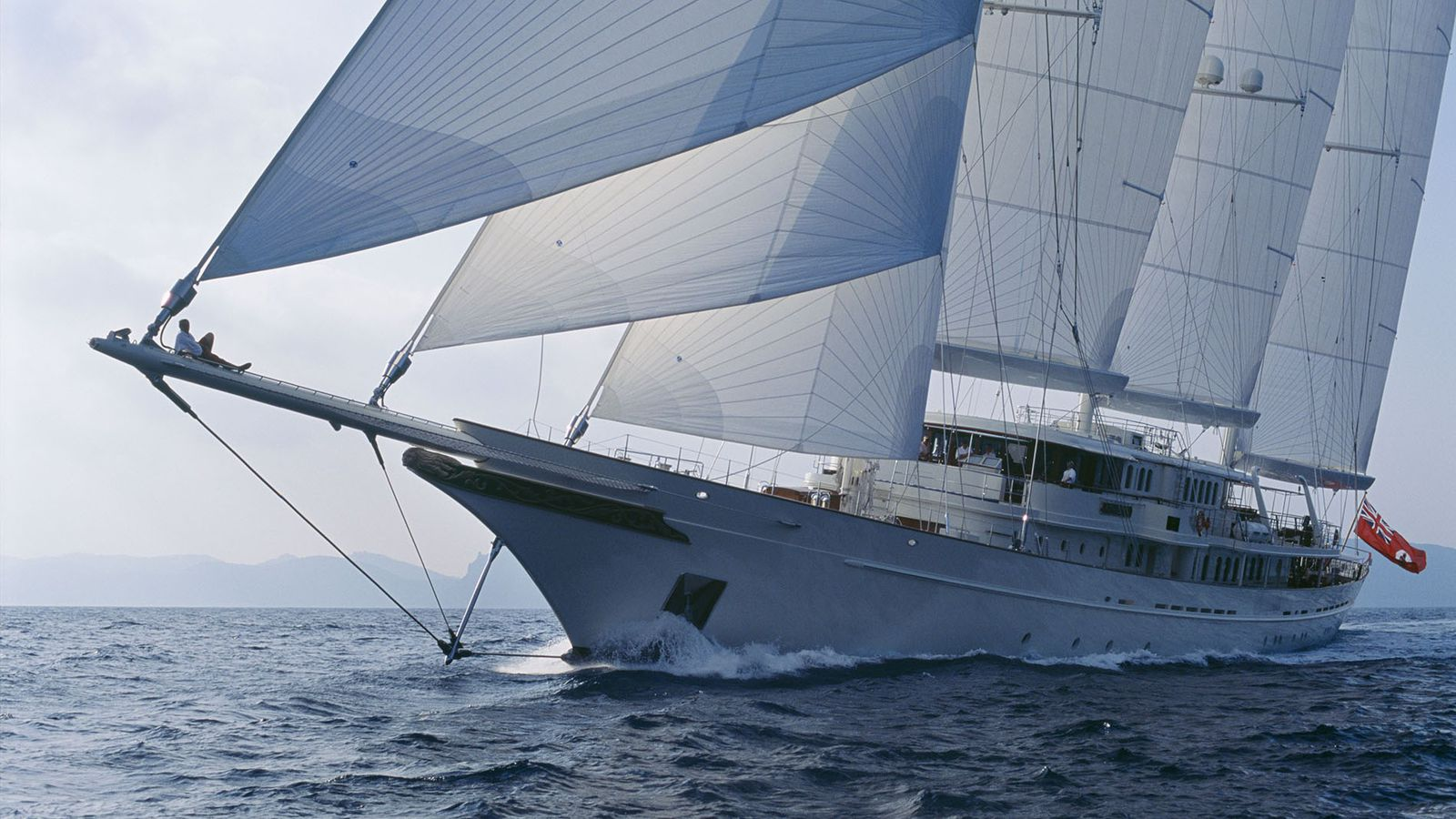 295 Foot Sailing Yacht Athena Is Docked In Miami