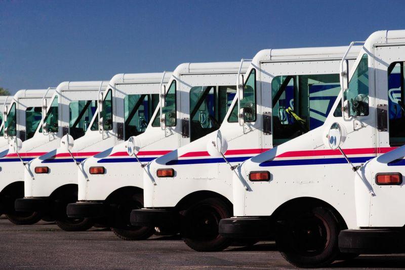 USPS mail trucks