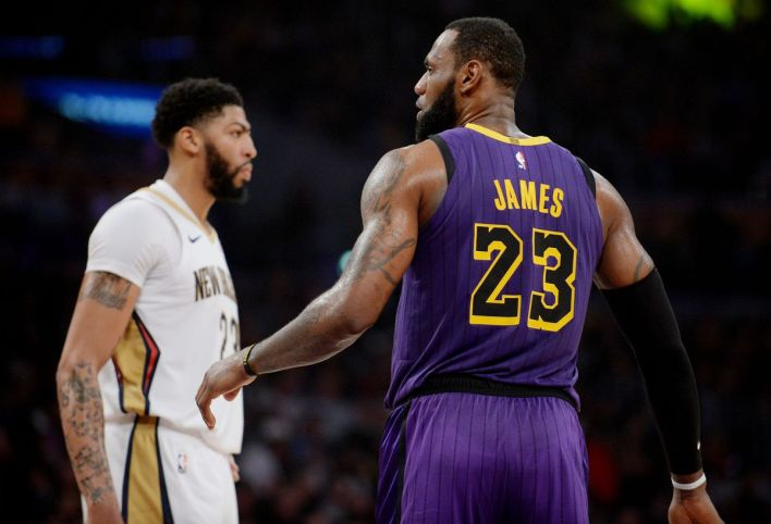 Image result for anthony davis lakers lebron adam silver