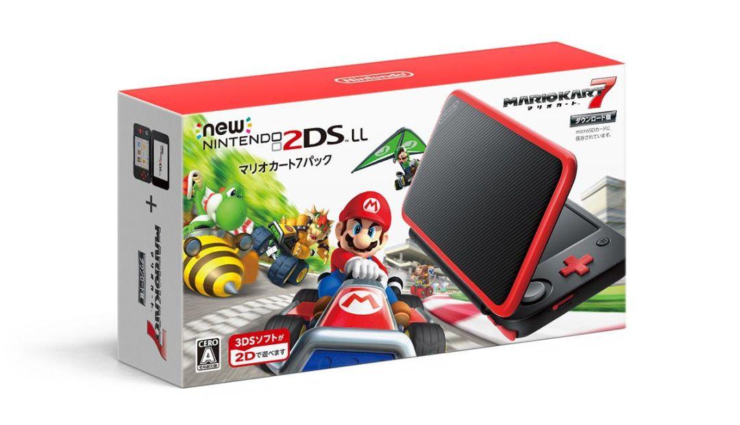 The box art for the Mario Kart 7 New Nintendo 2DS XL bundle.