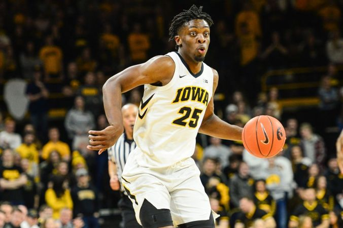 Image result for Iowa Hawkeyes vs. Wisconsin Badgers College Basketball 2019