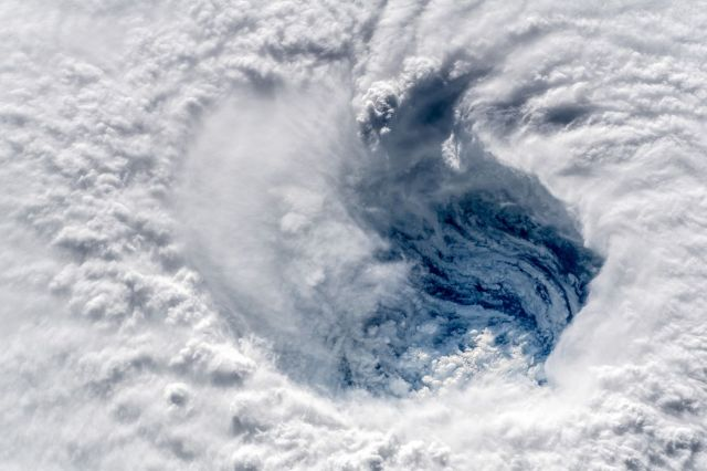 A view of Hurricane Florence from the International Space Station.