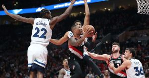 Blazers Survive Scare From Covington-Less Timberwolves