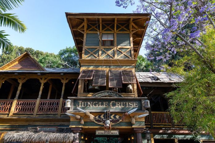Photo of the entrance to the Jungle Cruise in Disneyland, CA